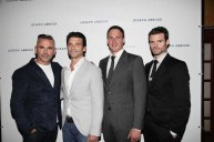 Bernardo Rojo Frank Grillo Ryan Lochte Daniel Gilllies left to right