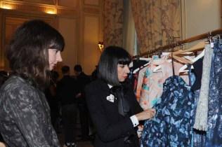 Calla Haynes presents her collection to Chantal Thomas