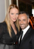 Uma Thurman and Francisco Costa