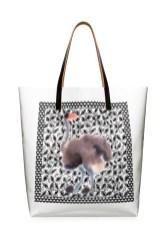 MARNI Saturday Morning Shopping bag Ostrich