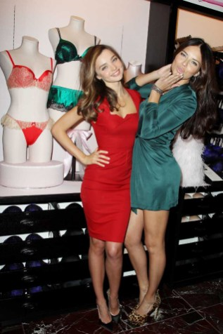 Victoria's Secret Angels Celebrate Holiday 2012 at the Newly Reopened Herald Square Store