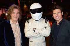 (L-R) James May, The Stig and Tom Cruise