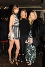 Karlie Kloss, Virginia Smith, Meredith Melling-Burke
