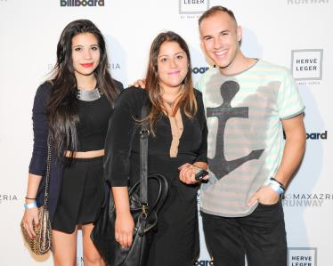 """""""Michael Gobo, Stephanie Ketty and Cami Zapata at the BCBGMAXAZRIA Runway and Herve Leger by Max Azria Spring 2014 exclusive after party"""""""