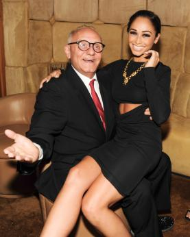 """""""Cara Santana and Max Azria at the BCBGMAXAZRIA Runway and Herve Leger by Max Azria Spring 2014 exclusive after party"""""""