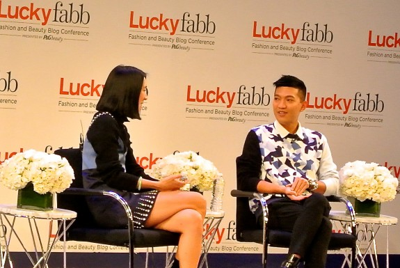 """Eva Chen and Bryanboy at Lucky FABB 2013"""