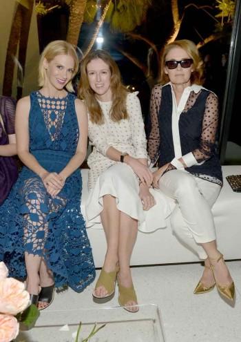 January Jones, designer Clare Waight Keller and Editor of Vogue Lisa Love