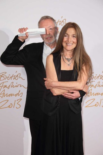 Terry & Tricia Jones (winners, BFC Outstanding Achievement in Fashion)