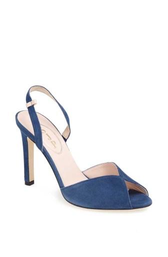 Slim Sandal Avio Blue - $345