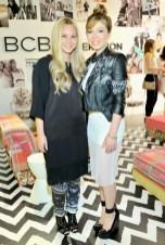 "Creative Director of BCBG Joyce Azria (L) and Jennette McCurdy (right) wears BCBGMAXAZRIA ""Luis Printed Jacket"" (CJP4H468); BCBGENERATION ""Dotted Mesh Tank Dress"" (VTH63A06); BCBGMAXAZRIA ""Arcade Shoes"""