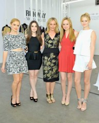 Actresses Rose McIver, Vanessa Marano, Chief Creative Officer of BCBGMAXAZRIAGROUP Lubov Azria, actresses Megan Martin and Ginny Gardner