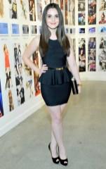"""Vanessa Marano wears BCBGMAXAZRIA """"Francis Layered Ruffle Dress"""" (LHL6Y025)"""