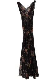Floral Seamed Maxi Dress