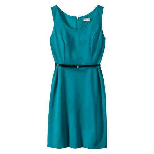Merona Women's Ponte Sleeveless Fit and Flare Dress, Monterey Bay, $29.99