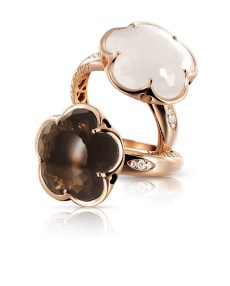 Bon Ton-rings_milky and smoky quartz
