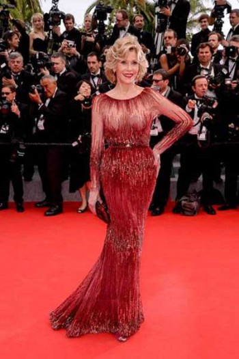 Jane Fonda in Elie Saab Cannes 2014