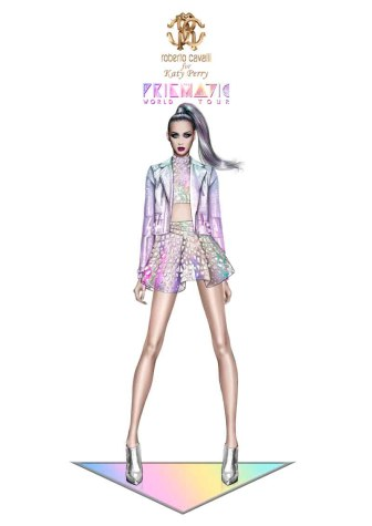 Roberto Cavalli for Katy Perry_Prismatic World Tour 2014 Look 2