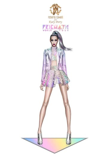 Roberto Cavalli for Katy Perry_Prismatic World Tour 2014 Look 2