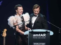 Milla Jovovich and Kellan Lutz
