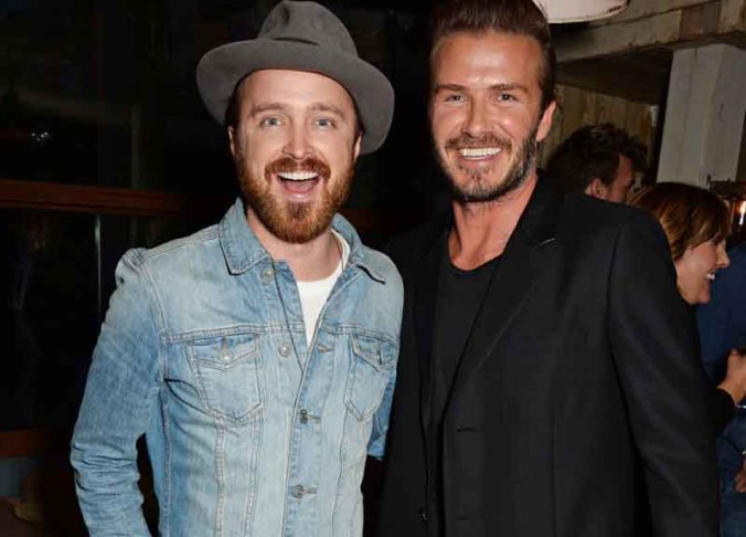 Aaron Paul, David Beckham