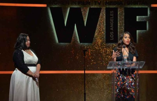 Writer/producer Shonda Rhimes and Kerry Washington,