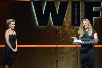 Kristen Bell and Jennifer Lee