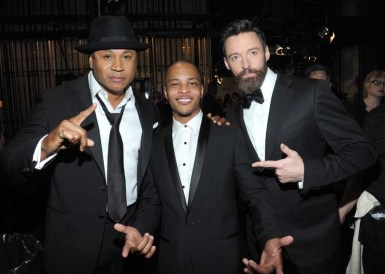 LL Cool J, T.I. and Hugh Jackman
