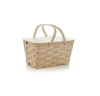 Crate and Barrel HandmadePicnicBasketS14