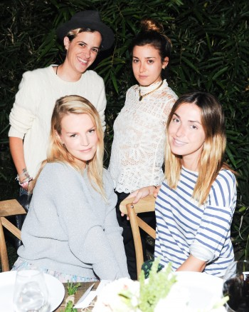 """Samantha Ronson, Kelly Sawyer, Jamie Schneider, Rebecca Schwartz at the BCBGeneration Summer Dinner"""