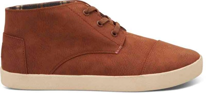 TOMS Paseo Mid- Brown Synthetic Leather
