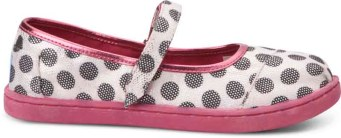 TOMS Youth- Silver Dot Mary Jane