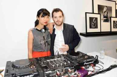 Mimi Xu aka Misty Rabbit (L) and Mike Skinner