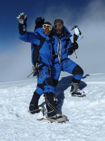Moncler_Michele Cucchi e Hassan Jan at the summit ph Gruber