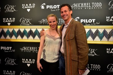 """Emma Myles and Gavin Keilly at the GBK & Pilot Pen Luxury Style Lounge"""