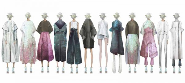 Illustrated Lineup by Max Lu, M.F.A. Fashion Design, and Jingci Jessie Wang, M.F.A. Fashion Design