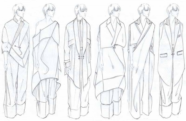 Illustrated Lineup by Mehrzad Hemati, M.F.A. Fashion Design