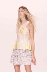 Rebecca Taylor Floral Sleeveless Shirt and Floral Chiffon Skirt