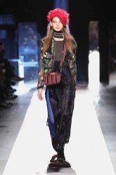 DESIGUAL_NYFW_AW17_ATWALK_LOOK 44 NEW YORK, NY - FEBRUARY 09:A model walks the runway at the Desigual show New York Fashion Week The Shows at Gallery 1, Skylight Clarkson Sq on February 9, 2017 in New York City