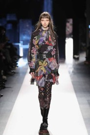 DESIGUAL_NYFW_AW17_ATWALK_LOOK 49 NEW YORK, NY - FEBRUARY 09:A model walks the runway at the Desigual show New York Fashion Week The Shows at Gallery 1, Skylight Clarkson Sq on February 9, 2017 in New York City