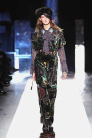 DESIGUAL_NYFW_AW17_ATWALK_LOOK 50 NEW YORK, NY - FEBRUARY 09:A model walks the runway at the Desigual show New York Fashion Week The Shows at Gallery 1, Skylight Clarkson Sq on February 9, 2017 in New York City
