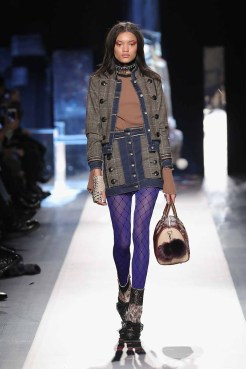 DESIGUAL_NYFW_AW17_ATWALK_LOOK 7 NEW YORK, NY - FEBRUARY 09:A model walks the runway at the Desigual show New York Fashion Week The Shows at Gallery 1, Skylight Clarkson Sq on February 9, 2017 in New York City
