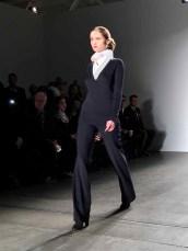 NEW YORK, Feb 13, 2017 - A model walks the runway at Zang Toi Fall 2017 show held at Pier 59. #NYFW