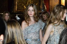 PARIS, FRANCE - JANUARY 24: Models wait backstage ahead of the Ziad Nakad Spring Summer 2018 show as part of Paris Fashion Week on January 24, 2018 in Paris, France. (Photo by Jonathan Philippe Levy/Getty Images For Ziad Nakad)