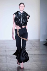 NEW YORK, NY - FEBRUARY 08: A model walks the runway wearing Kirsten Ley for Global Fashion Collective Presents KIRSTEN LEY At New York Fashion Week Fall 2018 at Industria Studios on February 8, 2018 in New York City. (Photo by Arun Nevader/Getty Images for Global Fashion Collective)