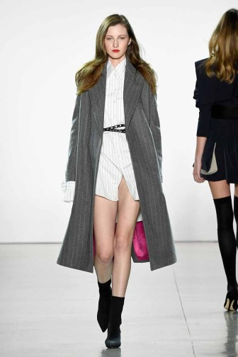 NEW YORK, NY - FEBRUARY 10: A model walks the runway for Taoray Wang during New York Fashion Week: The Shows at Gallery II at Spring Studios on February 10, 2018 in New York City. (Photo by Frazer Harrison/Getty Images for New York Fashion Week: The Shows)