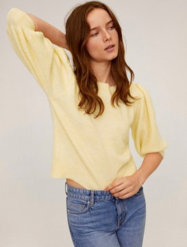 Mango Puffed Sleeves Crop Sweater, $59.99 at Mango