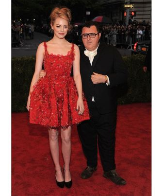Emma Stone and Alber Elbaz - 2012 Met Gala