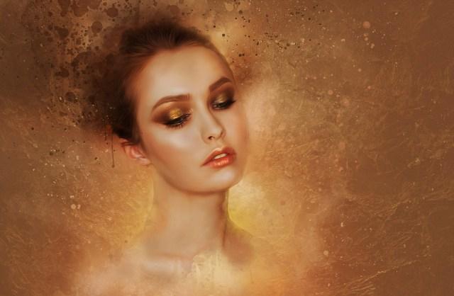 en la foto se ve un maquillaje especial de fantasia