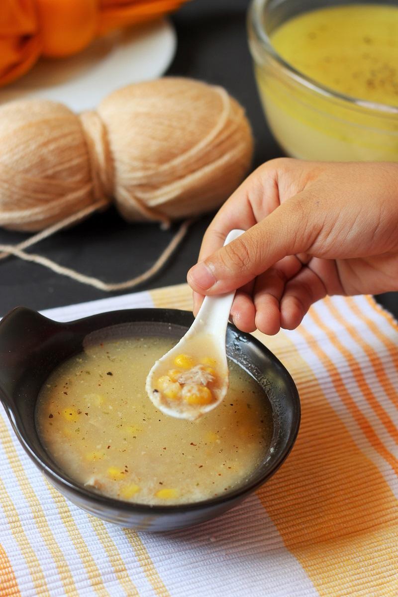 chicken corn soup recipe