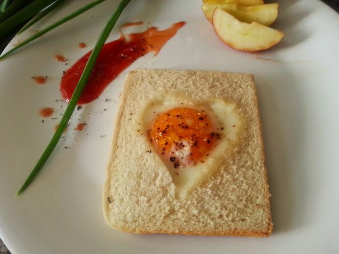 Heart Shaped Egg in Nest